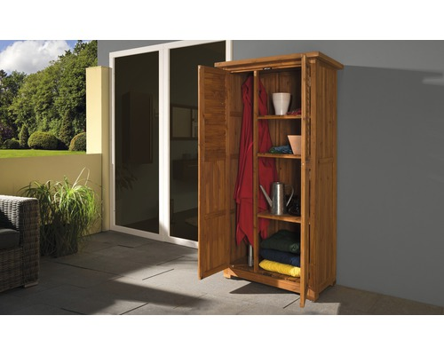 gartenschrank holz 15 mm weka pedro braun lasiert. Black Bedroom Furniture Sets. Home Design Ideas
