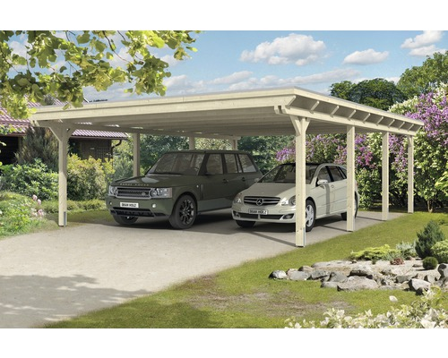doppelcarport skan holz emsland 613x846 cm mit epdm folie natur bei hornbach kaufen. Black Bedroom Furniture Sets. Home Design Ideas