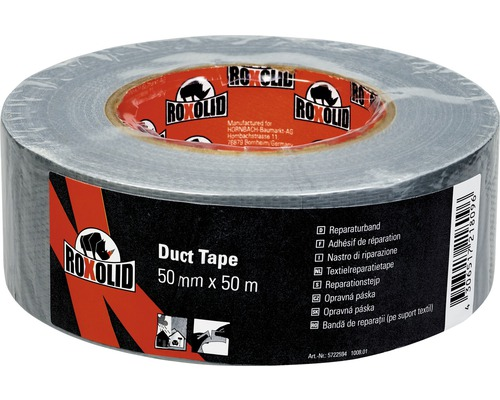 roxolid duct tape gaffa tape gewebeband silber 50 mm x 50 m bei hornbach kaufen. Black Bedroom Furniture Sets. Home Design Ideas