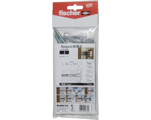 abstandsmontagesystem fischer thermax 8 100 m6 b bei hornbach kaufen. Black Bedroom Furniture Sets. Home Design Ideas