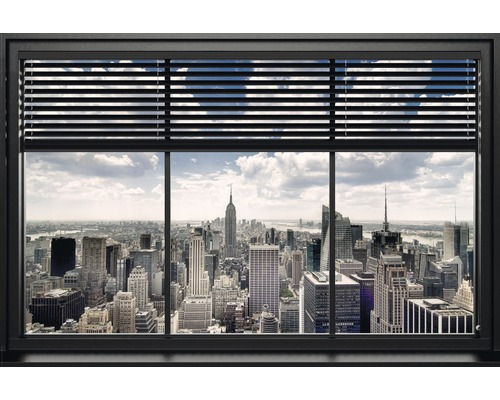 deko panel new york fenster lamellen bunt 60 x 90 cm bei. Black Bedroom Furniture Sets. Home Design Ideas