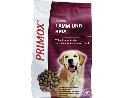 hundefutter trocken primox lamm reis 3 kg bei hornbach. Black Bedroom Furniture Sets. Home Design Ideas