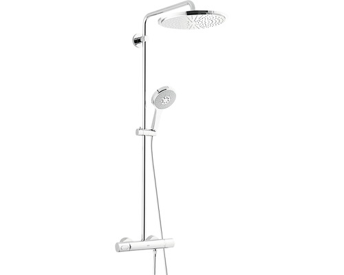 duschsystem grohe rainshower 27968000 chrom inkl thermostat bei hornbach kaufen. Black Bedroom Furniture Sets. Home Design Ideas
