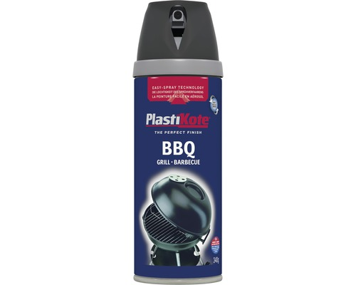 spr hlack premium plastikote grillfarbe schwarz bis 690 c 400 ml bei hornbach kaufen. Black Bedroom Furniture Sets. Home Design Ideas