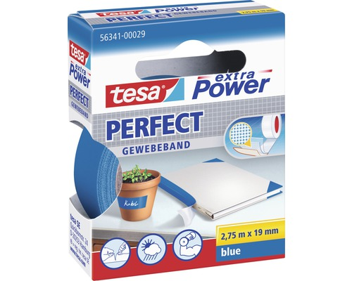 tesa extra power perfect gewebeband blau 2 75m x 19mm bei hornbach kaufen. Black Bedroom Furniture Sets. Home Design Ideas