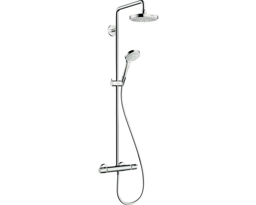 duschsystem hansgrohe croma select s 180 showerpipe 27253400 chrom inkl thermostat bei hornbach. Black Bedroom Furniture Sets. Home Design Ideas