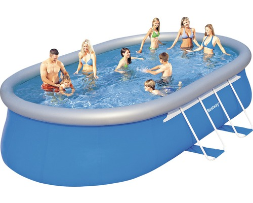 Fast set pool ovalbecken 549 x 366 cm h he 122 cm bei - Hornbach swimmingpool ...