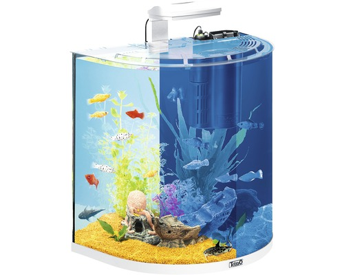 aquarium tetra explorerline 60 l mit led beleuchtung futter heizer filter wasseraufbereiter. Black Bedroom Furniture Sets. Home Design Ideas