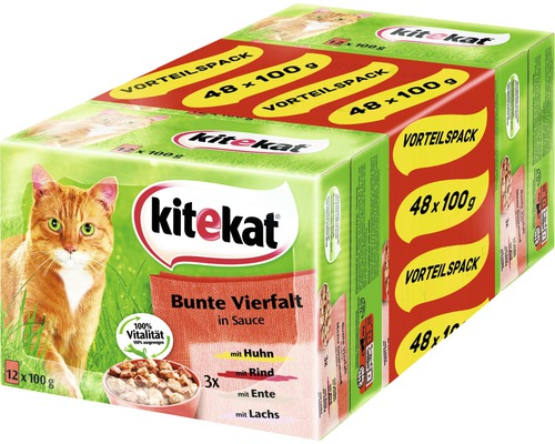 katzenfutter nass kitekat bunte vielfalt 48 x 100 g bei hornbach kaufen. Black Bedroom Furniture Sets. Home Design Ideas
