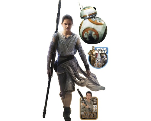 Tapeten Kinderzimmer Star Wars : Sticker Star Wars 7 Rey 90×160 cm bei HORNBACH kaufen