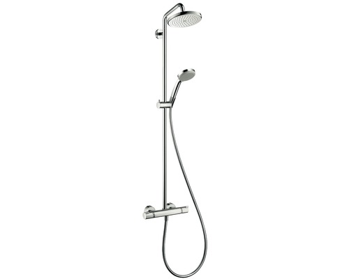 duschsystem hansgrohe croma 220 showerpipe 27185000 bei. Black Bedroom Furniture Sets. Home Design Ideas