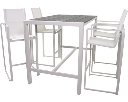 barset dallas aluminium 4 sitzer 5 teilig wei bei hornbach kaufen. Black Bedroom Furniture Sets. Home Design Ideas