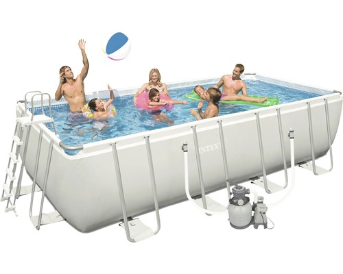 aufstellpool set frame pool 549 x 274 x 132cm 17202 liter bei hornbach kaufen. Black Bedroom Furniture Sets. Home Design Ideas