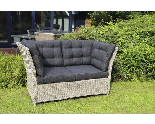 gartenbank destiny palma polyrattan 2 sitzer grau bei hornbach kaufen. Black Bedroom Furniture Sets. Home Design Ideas