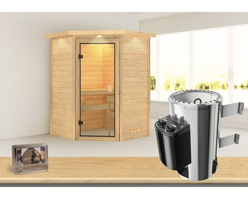 plug play sauna calienta zirkon ii inkl 3 5 kw ofen und dachkranz bei. Black Bedroom Furniture Sets. Home Design Ideas