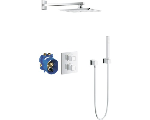 unterputz duschsystem grohe grohtherm cube 230 34506000 chrom inkl thermostat bei hornbach kaufen. Black Bedroom Furniture Sets. Home Design Ideas