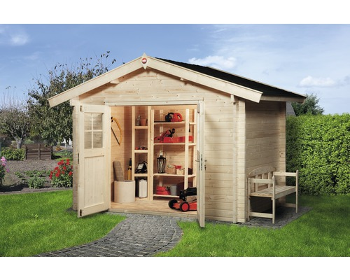 gartenhaus weka mit fu boden 300x250 cm natur bei hornbach kaufen. Black Bedroom Furniture Sets. Home Design Ideas