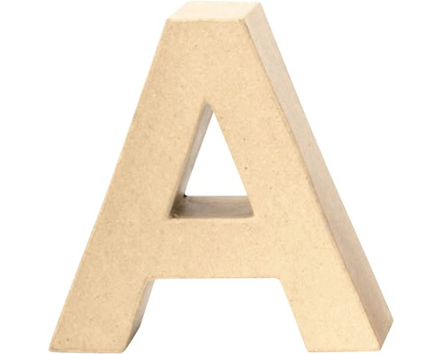 Buchstabe A Pappe 17,5x5,5 cm