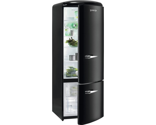 k hl und gefrierkombination gorenje rk60319obk schwarz bei hornbach kaufen. Black Bedroom Furniture Sets. Home Design Ideas