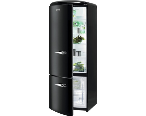 k hl und gefrierkombination gorenje rk60319obk l schwarz bei hornbach kaufen. Black Bedroom Furniture Sets. Home Design Ideas