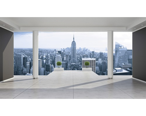 fototapete 1323 p8 new york papier city skyline 368 x 254. Black Bedroom Furniture Sets. Home Design Ideas