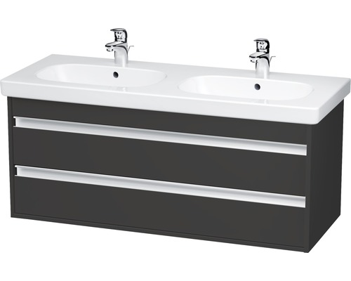 duravit ketho waschtisch unterschrank 115cm graphit matt kt664904949 bei hornbach kaufen. Black Bedroom Furniture Sets. Home Design Ideas