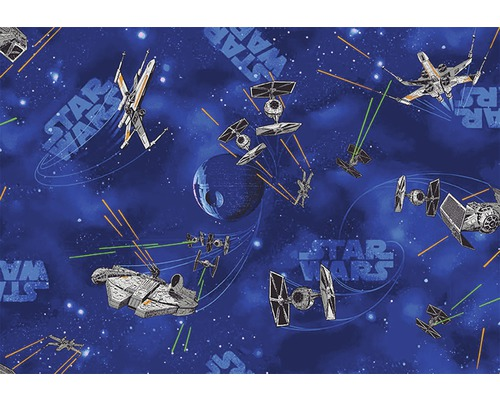 teppichboden star wars blau 400 cm breit meterware bei. Black Bedroom Furniture Sets. Home Design Ideas