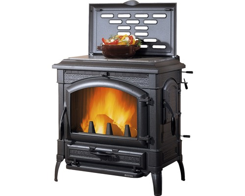 kaminofen nordica extraflame isotta mit kochplatte guss schwarz 11 9 kw bei hornbach kaufen. Black Bedroom Furniture Sets. Home Design Ideas