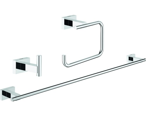 Relativ GROHE Essentials Cube Bad-Set 3 in 1 chrom 40777001 bei HORNBACH GC99