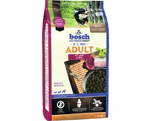 hundefutter trocken bosch adult lamm reis 1 kg bei hornbach kaufen. Black Bedroom Furniture Sets. Home Design Ideas