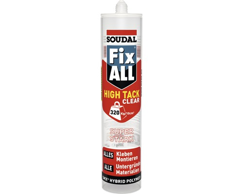 soudal fix all high tack clear 305 gr bei hornbach kaufen. Black Bedroom Furniture Sets. Home Design Ideas
