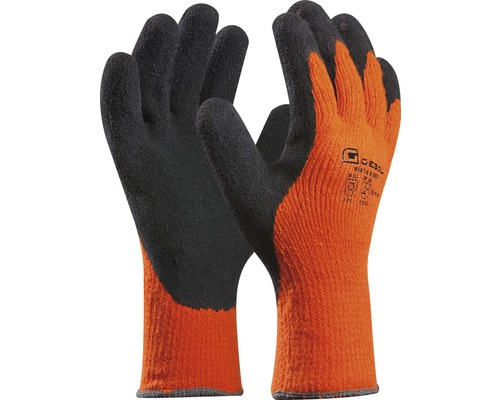 "Handschuh ""Winter Grip"" orange Gr.9"
