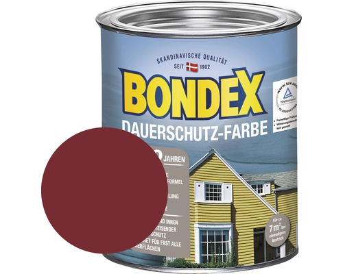 bondex holzfarbe dauerschutzfarbe schwedenrot 750 ml bei hornbach kaufen. Black Bedroom Furniture Sets. Home Design Ideas