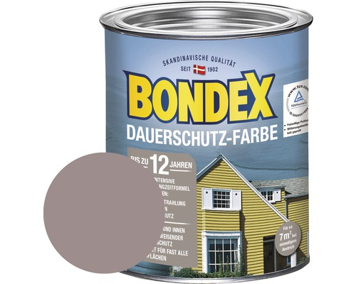 bondex holzfarbe dauerschutzfarbe taupe hell 750 ml bei hornbach kaufen. Black Bedroom Furniture Sets. Home Design Ideas