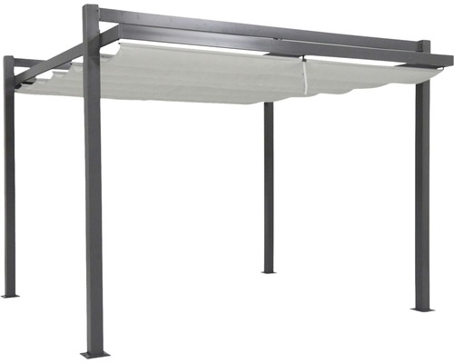 pavillon leco design pergola 3 5x3 5x2 30 m polyester 160 g m natur bei hornbach kaufen. Black Bedroom Furniture Sets. Home Design Ideas
