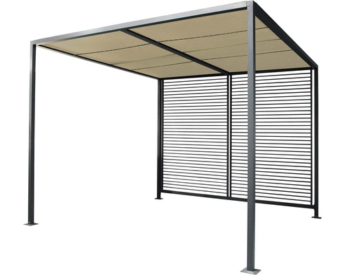pavillon leco pergola modern 2 8x2 8x2 45 m textilen lichtgrau bei hornbach kaufen. Black Bedroom Furniture Sets. Home Design Ideas